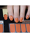 14pcs pure kleur nail art stickers mdp1046