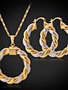 or 18 carats du platine fantaisie nouvelles femmes plaque deux tons cercle pendentif boucles d\'oreilles de basket-ball femmes des bijoux de haute