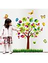 väggdekorationer väggdekaler, stil colore träd pvc väggdekorationer