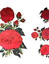 1 st vattentät helheten postat tillbaka röd blomma mönster tatuering klistermärken