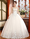 Ball Gown Wedding Dress - Ivory Floor-length Sweetheart Lace