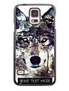 cazul în care telefonul personalizate - Iceberg lup de proiectare carcasa de metal pentru i9600 Samsung Galaxy s5