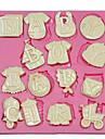bebis bokstäver silikonform silikon kaka Utsmyckning mögel för fondant Fimo choklad godis