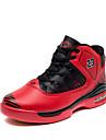 Chaussures Noir / Bleu / Rouge Cuir Basketball Femme