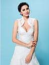 Wedding  Wraps Boleros Lace White/Beige Bolero Shrug