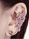 Cătușe pentru urechi Ștras Aliaj Animal Shape Fluture Alb Mov Bijuterii Pentru Nuntă Petrecere Zilnic Casual 1 buc