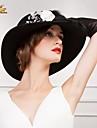 כובע מתוק גבירותיי צמר מדהימות חתונה / מסיבה / חיצוני עם פרחים (צבעים נוספים)
