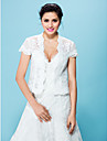 Hochzeitsverpackungen Boleros schnueren weiss / beige bolero Achselzucken