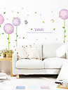 Wall Stickers Wall Decals, Style Purple Flower PVC Wall Stickers