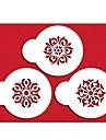 Quatre c pochoirs gateau tasse de biscuits et de cafe pochoirs definir la couleur blanche, 3pcs / set st-656