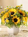 Une succursale Soie Tournesols Fleur de Table Fleurs artificielles 23 x 15 x 15(9.06\'\' x 5.91\'\' x 5.91\'\')