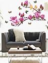 miljö lila magnolia blomma formad väggklistermärke