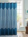 Rideau de douche imprime bleu eau de resistant moderne
