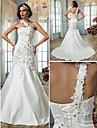 LAN TING BRIDE Trumpet / Mermaid Wedding Dress - Classic & Timeless Elegant & Luxurious Vintage Inspired Sparkle & Shine Court TrainOne