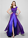 Lanting Bride® A-line Plus Size / Petite Mother of the Bride Dress Sweep / Brush Train Sleeveless Satin / Georgette withAppliques /
