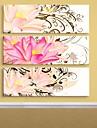 e-Home® sträckta canvas konst blomma dekorativt måleri uppsättning av 3