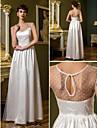 Sheath/Column Wedding Dress - Ivory Floor-length Scoop Tulle