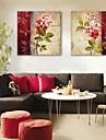 e-home® canvas da arte da flor conjunto pintura decorativa de 2