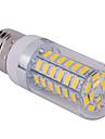 e27 15w 1500lm 60x5730smd 2800-3200k / 6000-6500K lumiere blanche blanc / frais chaud conduit ampoule de mais (110 / 220V)
