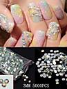 5000pcs glitter 3mm ab strass acrylique nail art decorations