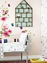 väggdekorationer väggdekaler, blomma pvc väggdekorationer
