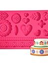 quatre-c gumpaste moule de conception de moule a cake, fournitures de gateau fondant au sucre mat tapis de pate couleur des outils de gateau rose