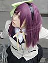 Perruques de Cosplay Tokyo Ghoul Cosplay Violet Moyen Anime Perruques de Cosplay 60 CM Fibre resistante a la chaleur Feminin