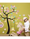 väggdekorationer Väggdekaler, diy tecknad träd pvc vägg klistermärken