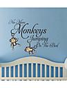 väggdekorationer inga fler apor hoppa på sängen barnen väggdekal