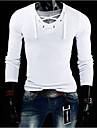 T-Shirts ( Coton melange ) Informel Col V a Manches longues