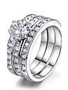 Inele Afirmatoare Cristal imitație de diamant Aliaj Bijuterii Nuntă Petrecere Zilnic Casual 1 buc