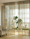 Two Panels Jacquard Wave Sheer Curtains Drapes