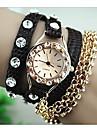 soha superstar multi-couche d\'enroulement avec une montre bracelet de diamant