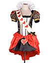 Cosplay Kostymer/Dräkter Festklädsel Prinsessa Sagolikt Festival/högtid Halloweenkostymer Röd Lappverk Klänning HuvudbonadHalloween