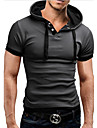 T-Shirts ( Coton melange ) Informel Sweat a capuche a Manches courtes