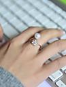 Femme Anneaux Ajustable Bijoux de Luxe bijoux de fantaisie Perle Strass Imitation Diamant Alliage Bijoux Pour Mariage Soiree Quotidien
