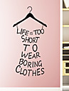 Wall Stickers Wall Decals, Style The Fitting Room Decoration PVC Wall Stickers