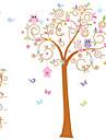 väggdekorationer väggdekaler, uggla blomma träd pvc väggdekorationer