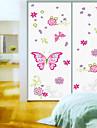 Wall Stickers Väggdekaler, stil rosa fjäril pvc väggdekorationer