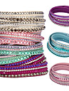 mode kvinders flerlagede krystal armbånd (assorterede farver) smykker