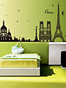 stickers muraux stickers muraux, City Tower silhouette pvc stickers muraux