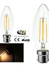 2 st ONDENN B22 4 COB 400 LM Varmvit C35 edison Vintage LED-glödlampor AC 220-240 / AC 110-130 V