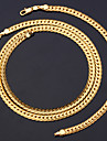 fraiches de fantaisie or chunky cubain maille serpent chaine de 18k collier bracelet mis unisexe de haute qualite timbre 18k 6mm 55cm