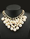 Dame Coliere Perle Aliaj La modă Declaratie de bijuterii Culoare ecran Bijuterii Ocazie specială Zi de Naștere