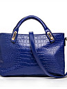 Femme Polyurethane Formel / Decontracte / Bureau & Travail / Shopping Sac a Bandouliere / Cabas Beige / Bleu / Rouge / Noir