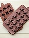 mode silikon choklad is gelé kaka Utsmyckning mögel kök bakeware matlagning formverktyg (slumpmässig färg)