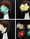 Handmade Chiffon Flower Feather Hair accessories Bridal Wedding Fascinators(Assorted Color)