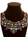 Dame Lănțișoare Coliere Cristal Piatră Preţioasă Aliaj La modă Declaratie de bijuterii Culoare ecran BijuteriiOcazie specială Zi de