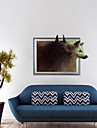 3d les wolf wall stickers autocollants muraux