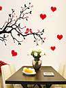 stickers muraux stickers muraux, style amour oiseaux murales branche d\'arbre de pvc autocollants